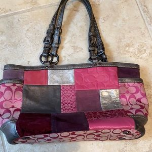 Coach Patchwork Leather  Handbag Original